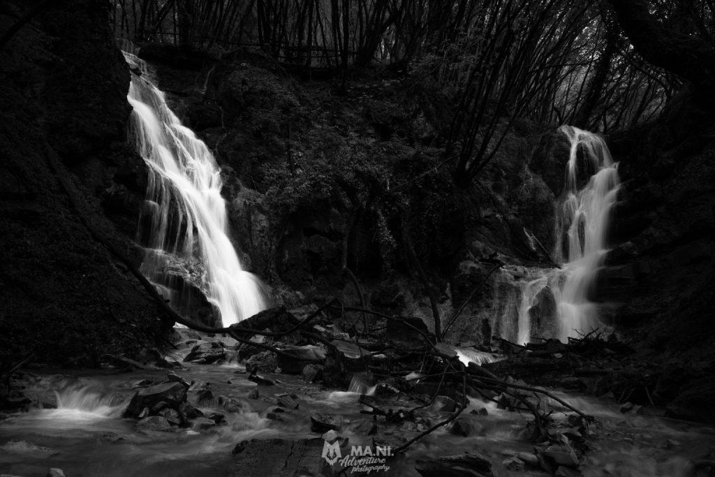 Le cascate del Bucamante nel pieno della loro portata