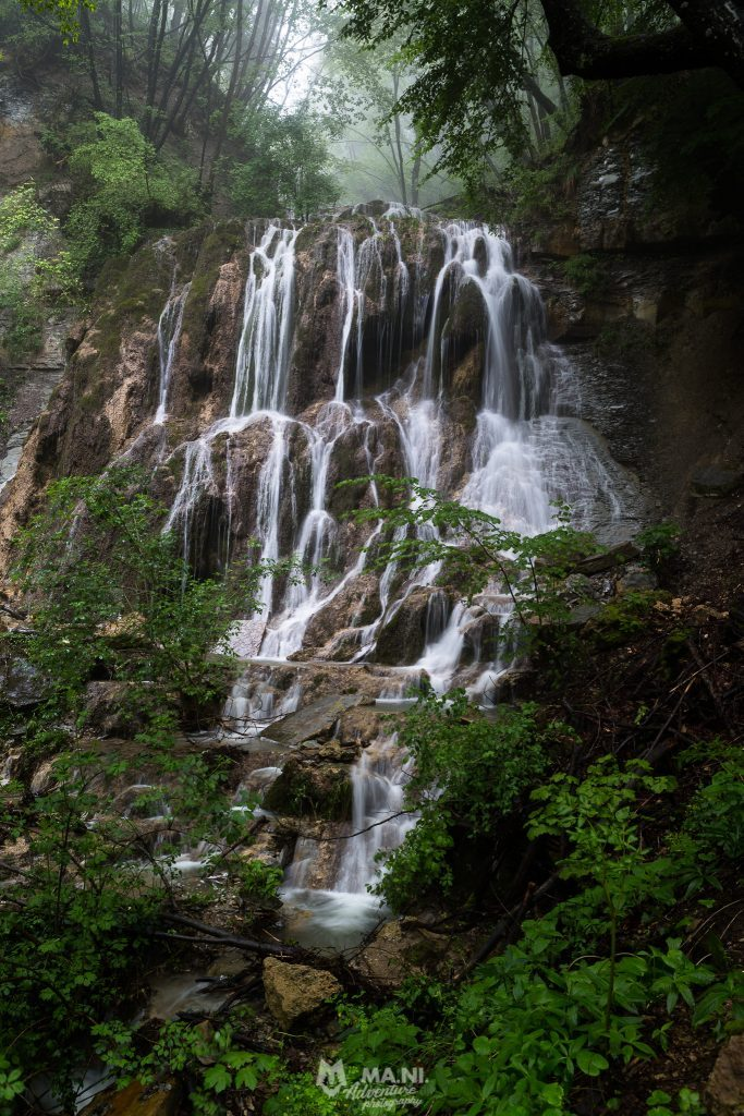 La cascata Muschiosa alle cascate del Bucamante