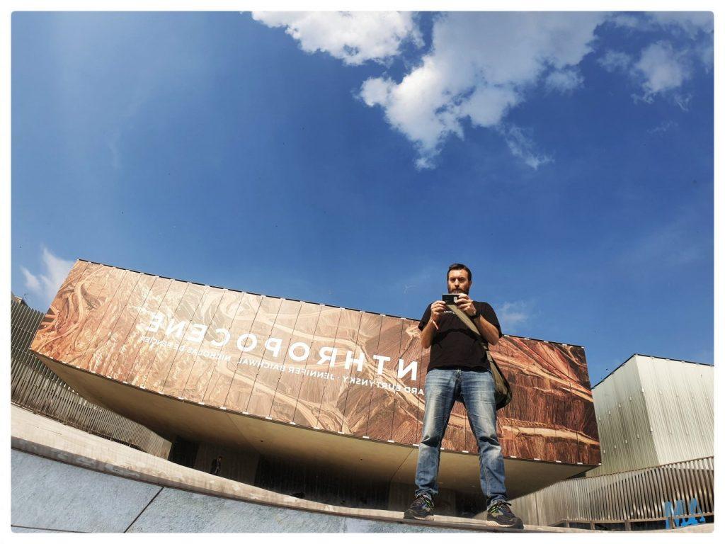 L'ingresso della mostra Anthropocene al Mast. di Bologna