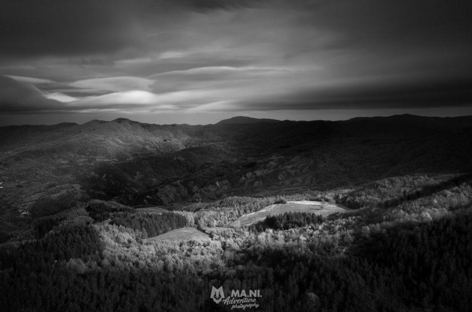 Vista panoramica dalla vetta del Monte Penna, Arezzo.