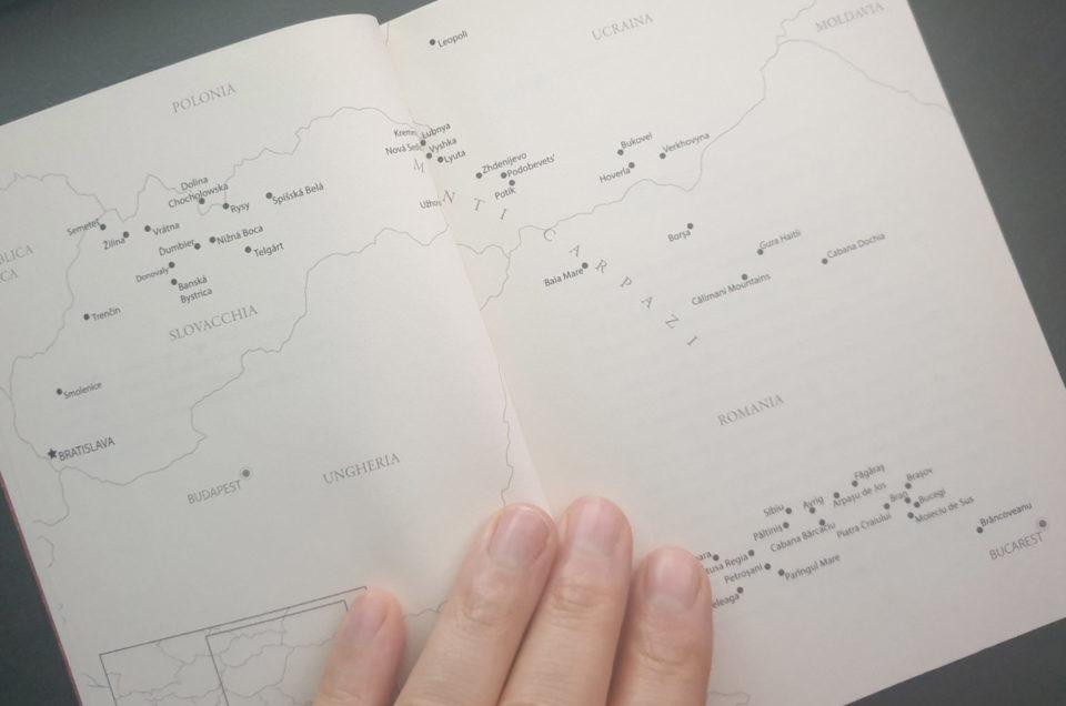 Oltre Dracula, la mappa dell'itinerario attraverso i Carpazi